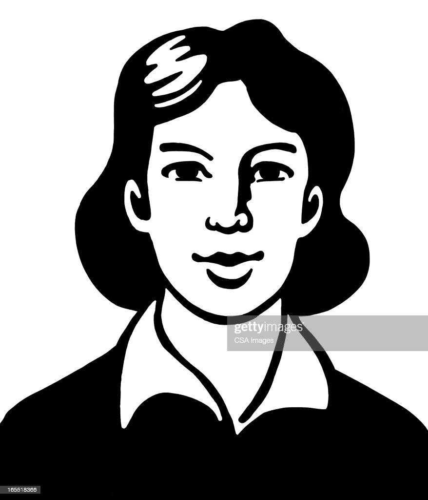Portrait of a Woman : Stock Illustration