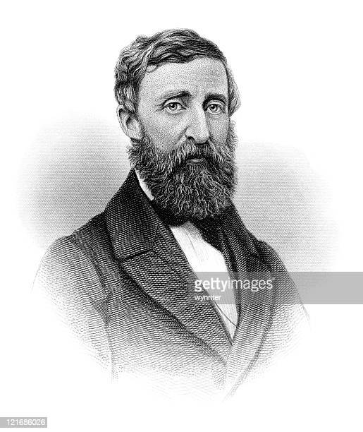 Portrait of American Author, Poet, and Naturalist Henry David Thoreau
