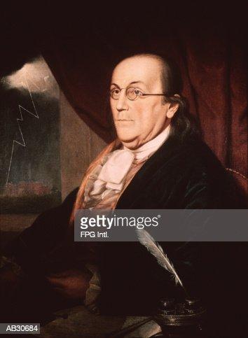 Portrait of Benjamin Franklin : Stock Illustration