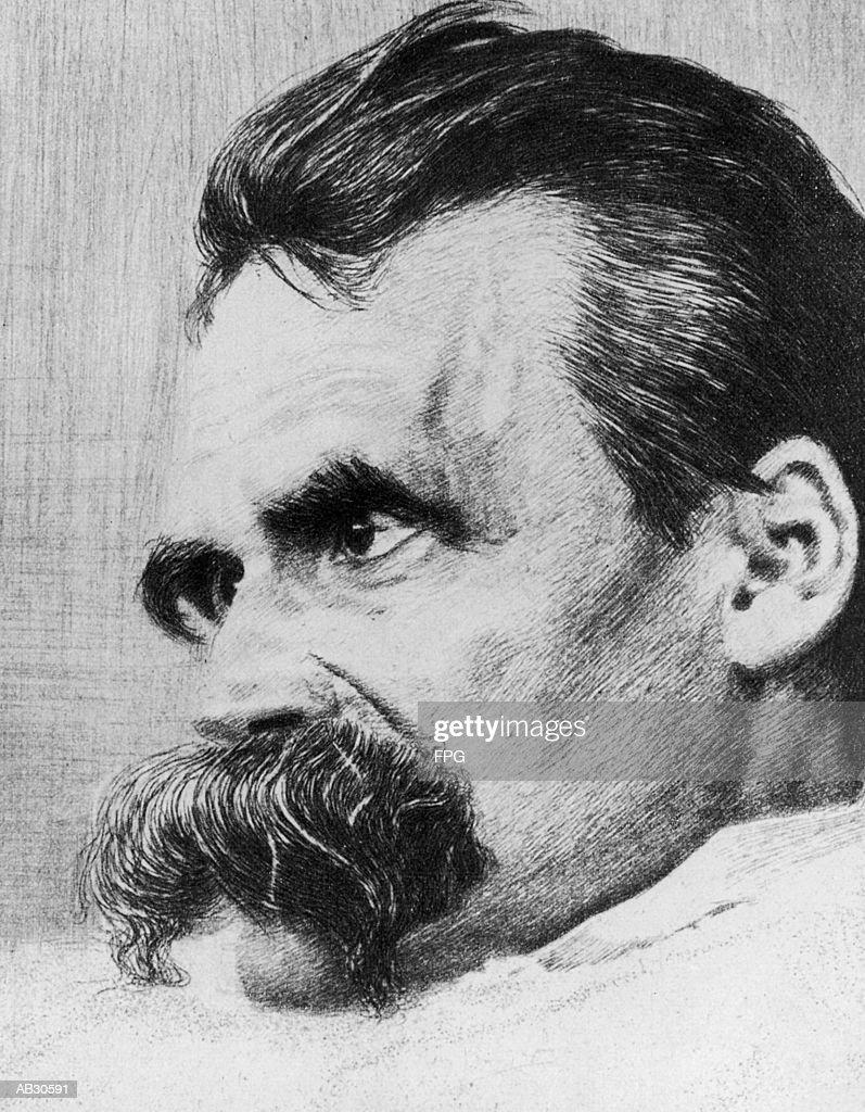 Portrait of Friedrich Nietzsche : Stock Illustration