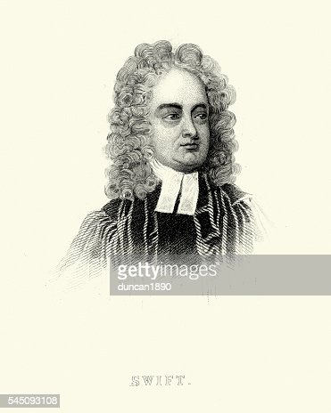 Portrait of Jonathan Swift : Stock Illustration