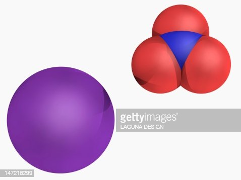 Potassium Nitrate Molecule Stock Illustration | Getty Images