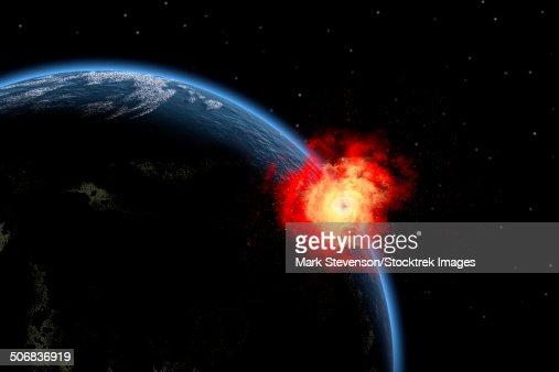 asteroid impact explosion - photo #5