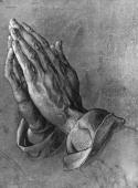 Praying hands by the German artist Albrecht Durer circa 1500