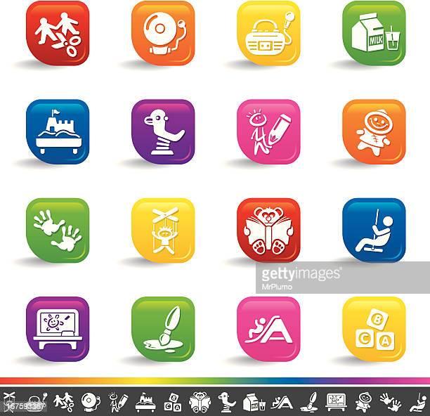 Preschool icons | Rainbow Series
