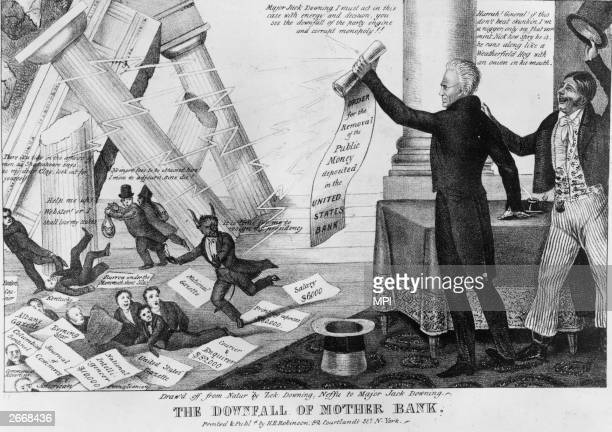 President Andrew Jackson refuses to renew the charter of the Bank of the United States on the grounds that it is a tool of the rich choosing to...