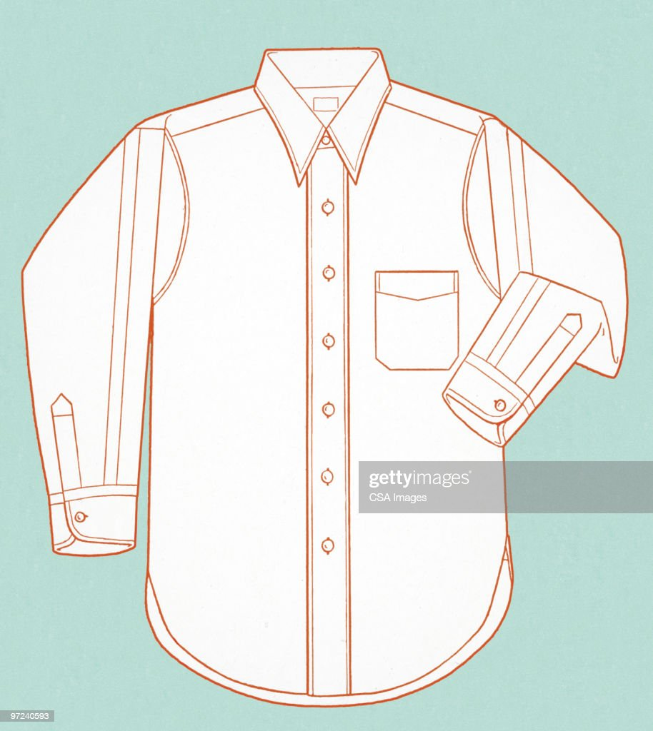 Pressed Button Up Shirt : Stock Illustration