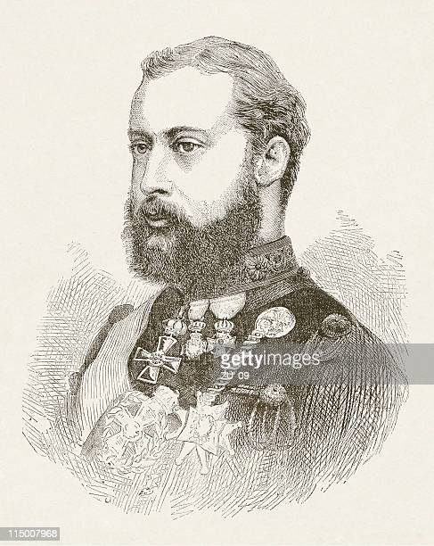 Prince Albert Edward of Wales (1841-1910), wood engraving, published 1872