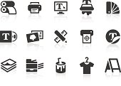 'Monochromatic printing related vector icons for your design or application. Raw style. Files included: vector EPS, JPG, PNG.'
