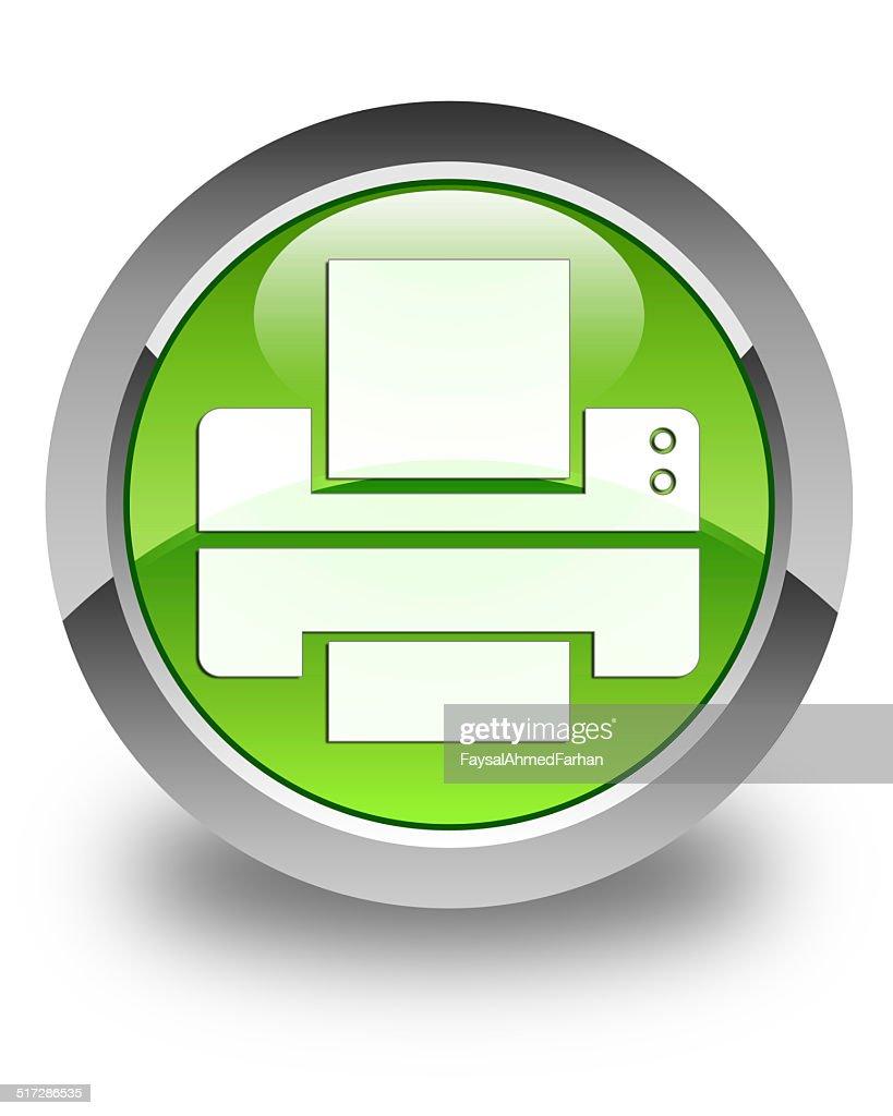 Printer Icon Glossy Green Round Button Stock Illustration ...