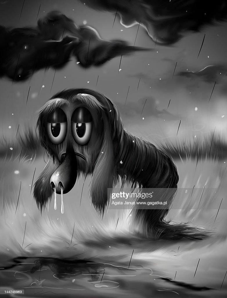 Pulp and rain/snow : Stock Illustration
