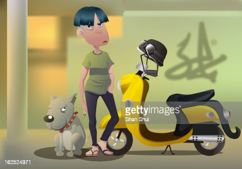 Punk Young Man : Stock Illustration