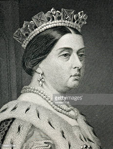 Queen Victoria Engraving From 1873