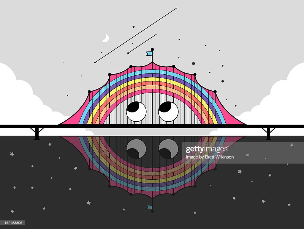 Rainbow bridge : Stock Illustration