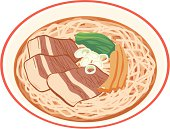 Ramen, close-up, illustration