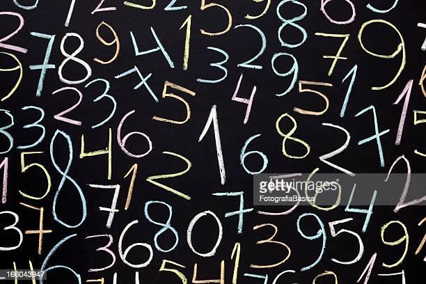 Aleatoria de números de pizarra