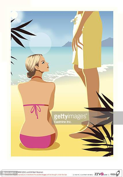 Sitting Beach Clip Art Stock Illustrations And Cartoons