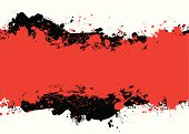 Red and black abstract background with room to add your own copy