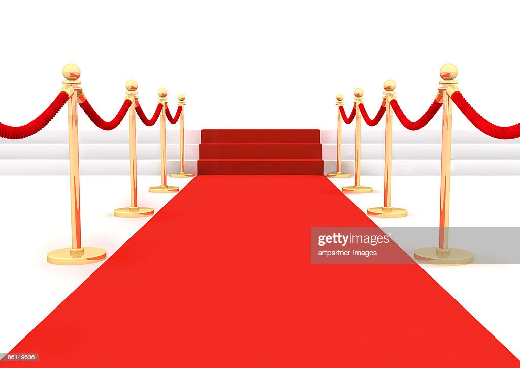 Red Carpet with ropes or twines : Stock Illustration