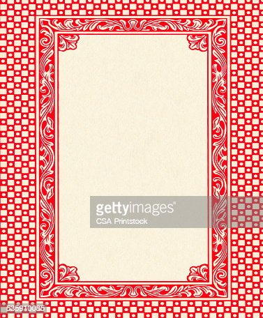 Red Frame Pattern : Stock Illustration