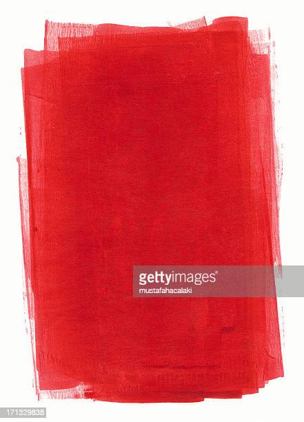 Red painted paper
