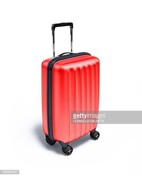 Red suitcase, artwork