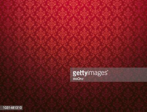 Papier Peint Rouge Avec Motif Damasse Illustration Thinkstock