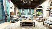 3D render of house living room