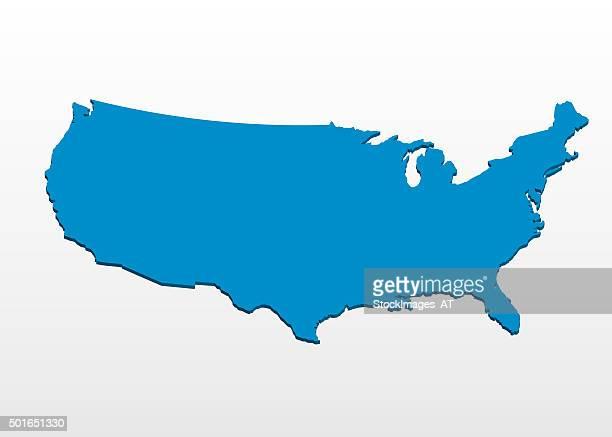 3D Render of USA tilt viewpoint