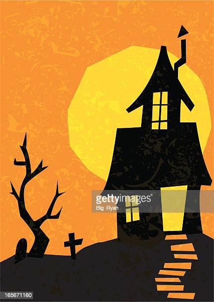 retro haunted house