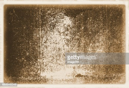 Retro sepia wall surface close up with faded borders for texture or background. : stock illustration