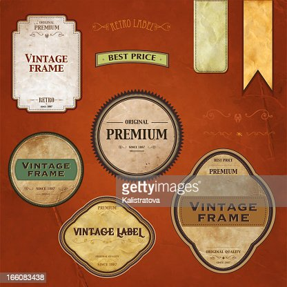 Retro styled labels : Vector Art