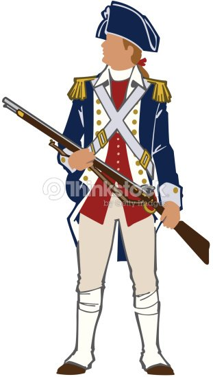 Revolutionary War Soldier Color Layered Also Available In ... American Revolution Soldier Clipart