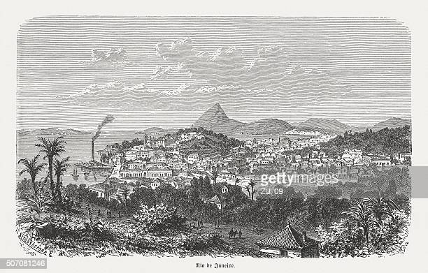 Rio de Janeiro, wood engraving, published in 1882