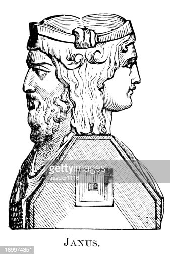 Roman God Janus Stock Illustration | Getty Images