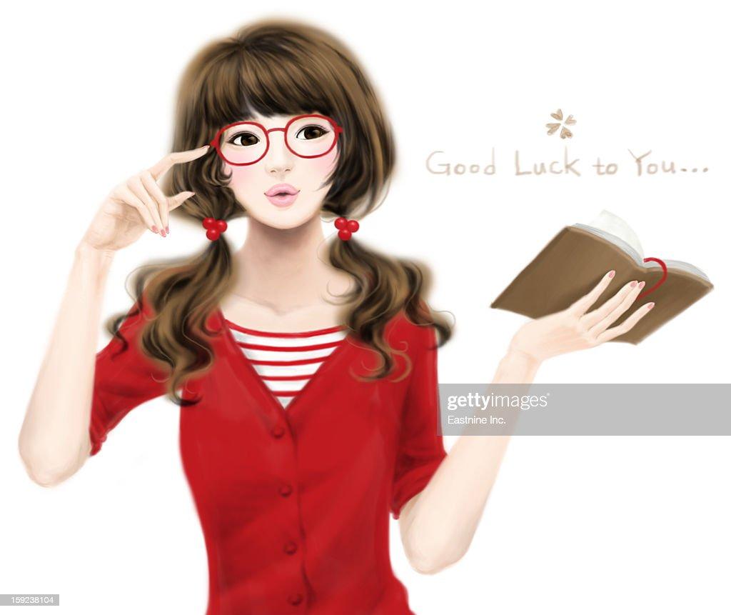 Romantic Girl : Stock Illustration