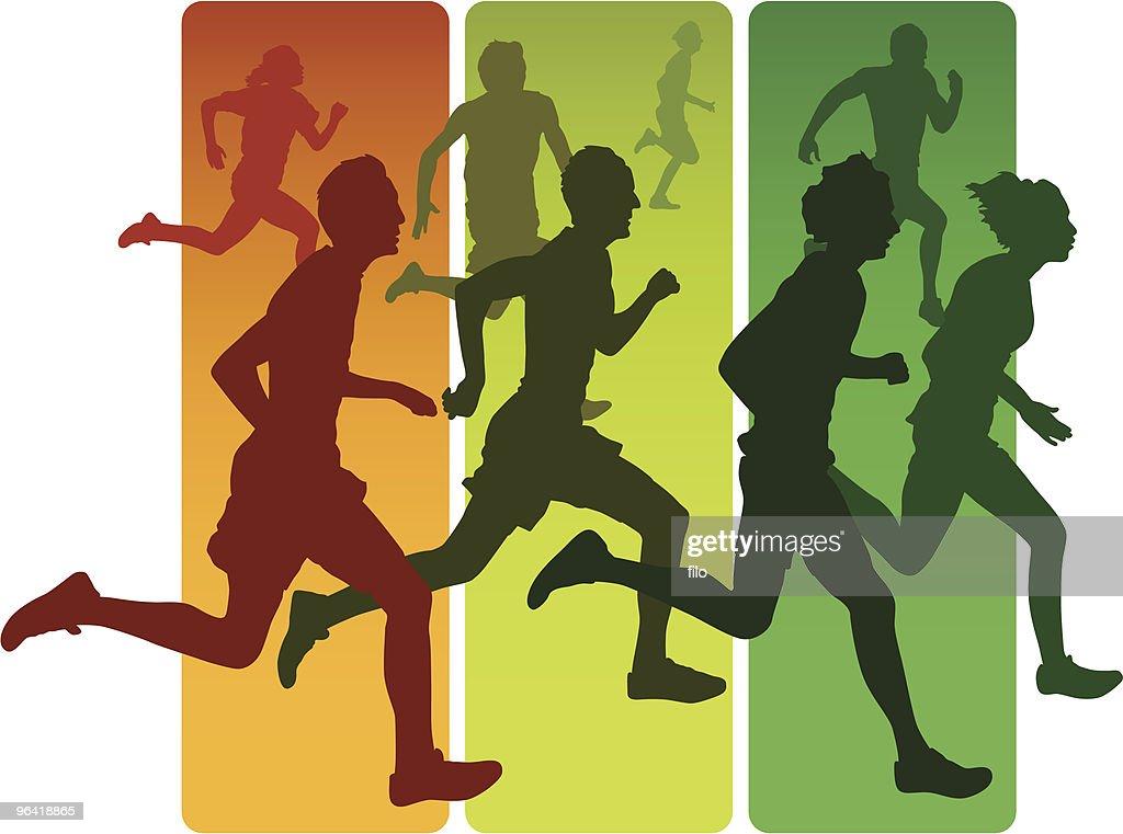 Runners : Vector Art