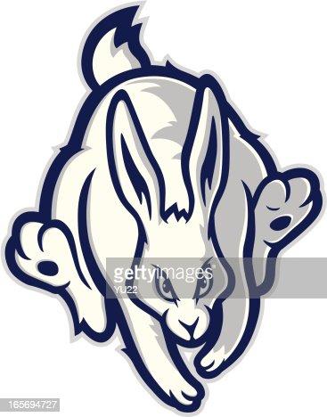 Running Rabbit Mascot ...