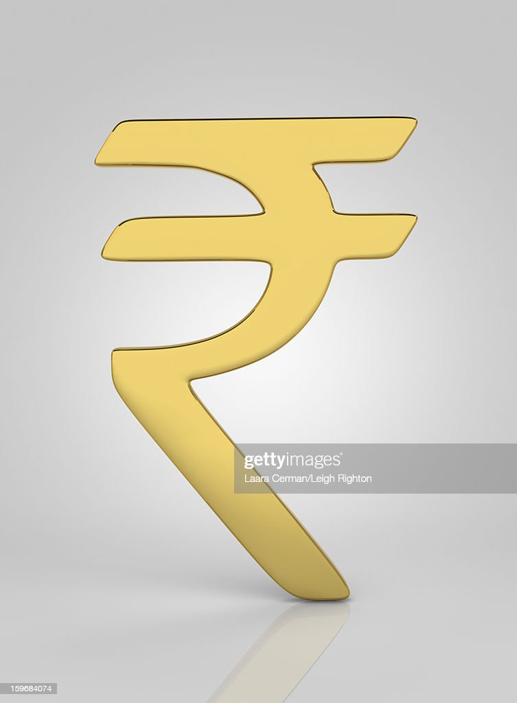 Rupee symbol. : Stock Illustration