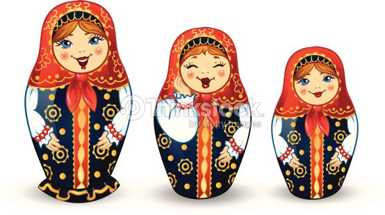 russische puppen matrioshka vektorgrafik thinkstock. Black Bedroom Furniture Sets. Home Design Ideas