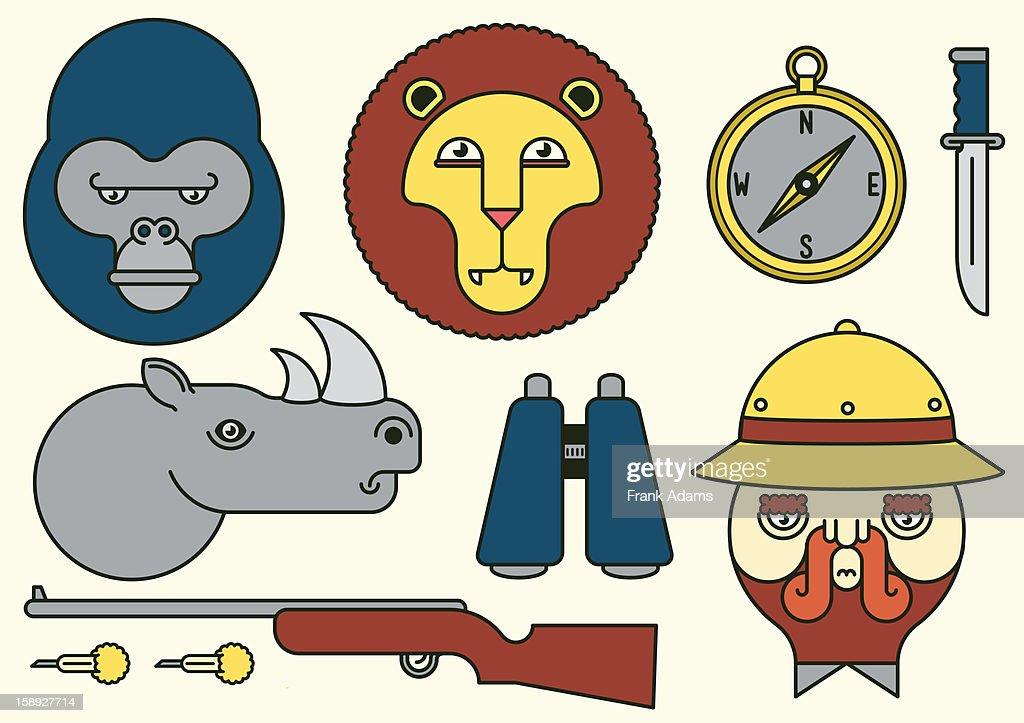 Safari animals : Stock Illustration