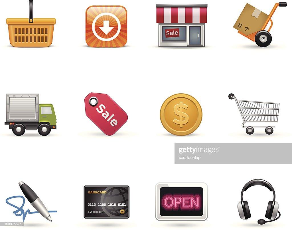 Satin Icons | Shopping : Vector Art