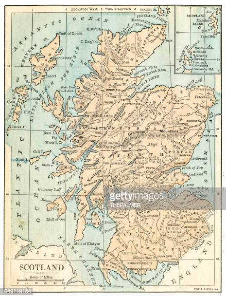 Scotland map 1875