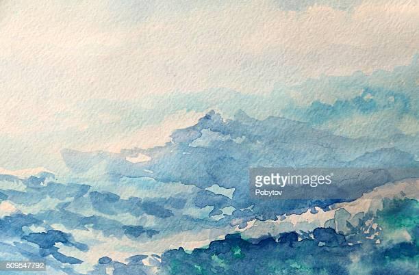 sea - watercolor painting