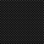 Seamless woven carbon fiber illustrated vector background with repeat pattern texture