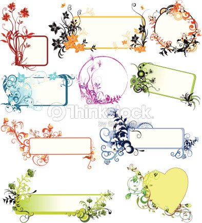 Selection Of Organic Frame Designs Vector Art | Thinkstock