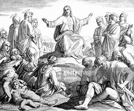 Sermon on the Mount : Stock Illustration