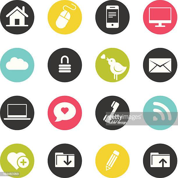 Set of computer icons for web and mobile use