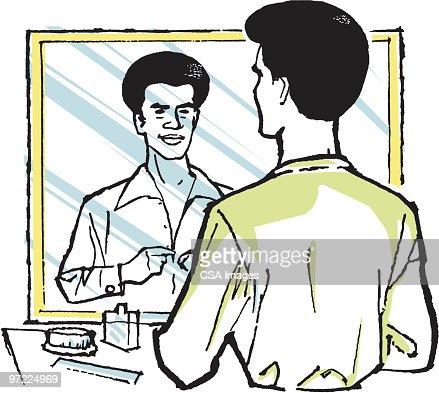 man looking in mirror clipart. keywords man looking in mirror clipart k