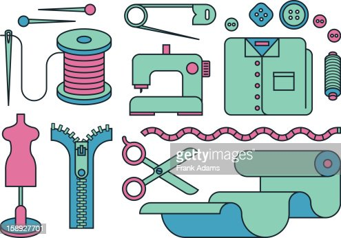 Sewing images : Stock Illustration
